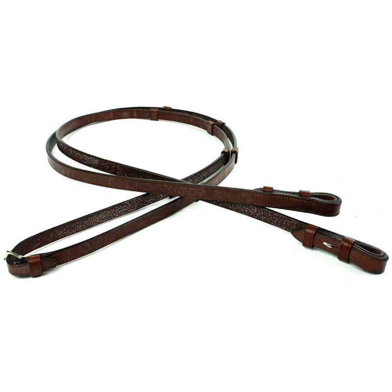 HBC Oak leather reins with stops