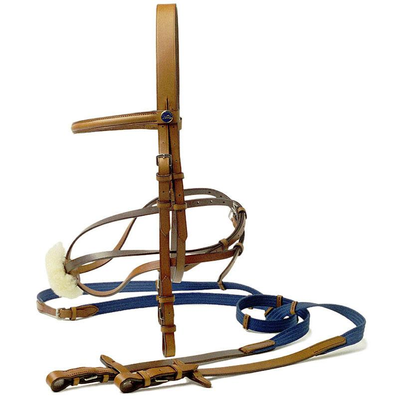 HIPICA Tobacco Mexican style briddle and reins