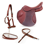 DO2 saddle + Halter with Leather strap + Stirrups leather