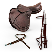 PULITO Saddle + Bridle with Reins + Stirrups leathers