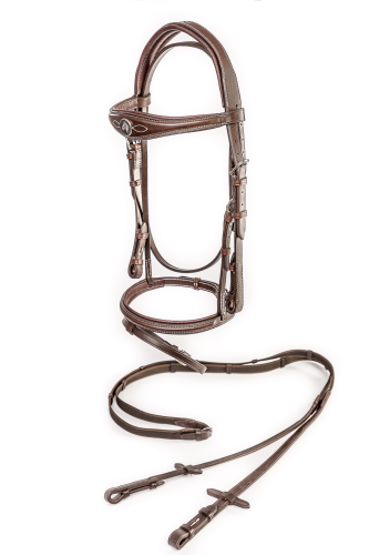HBC Havana Brown Premium briddle and reins
